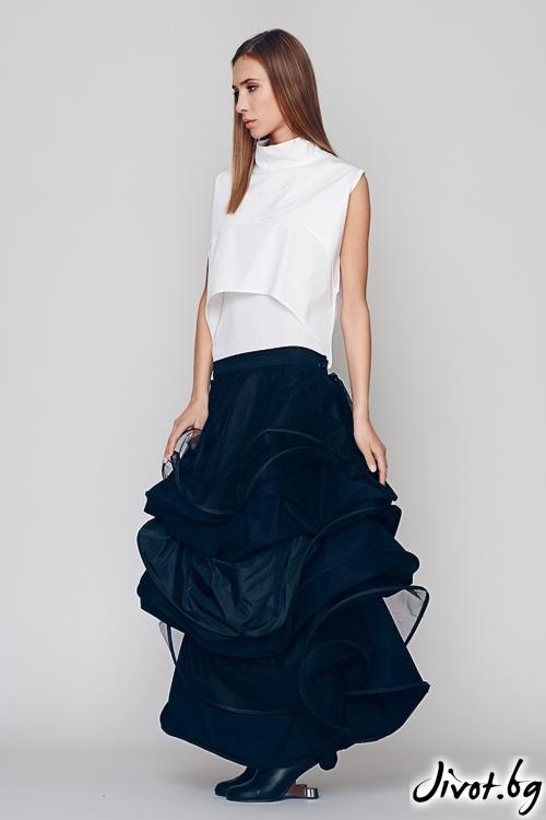 Дълга черна пола/рокля - Maria Queen Maria
