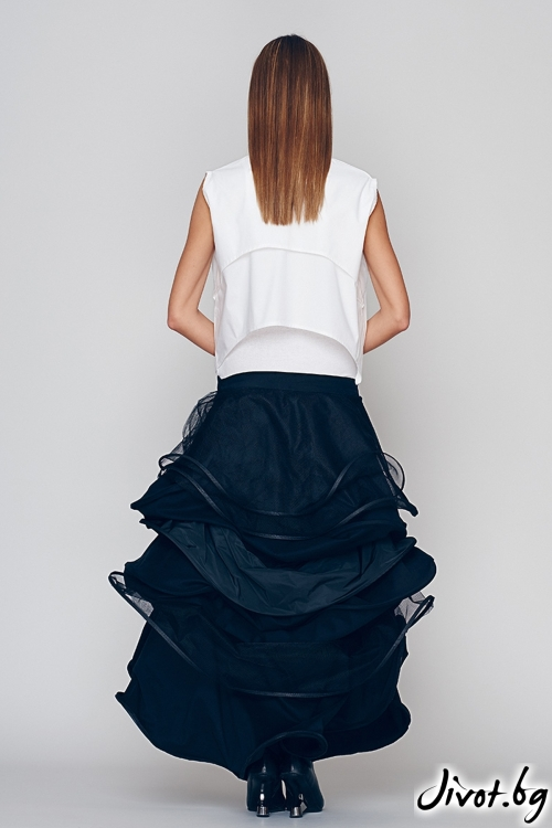 Дълга черна пола- Maria Queen Maria