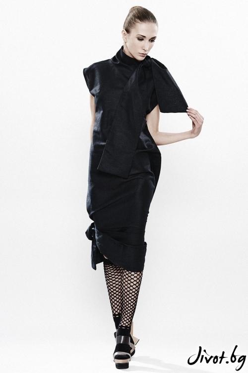 Елегантна черна рокля Maria Queen Maria
