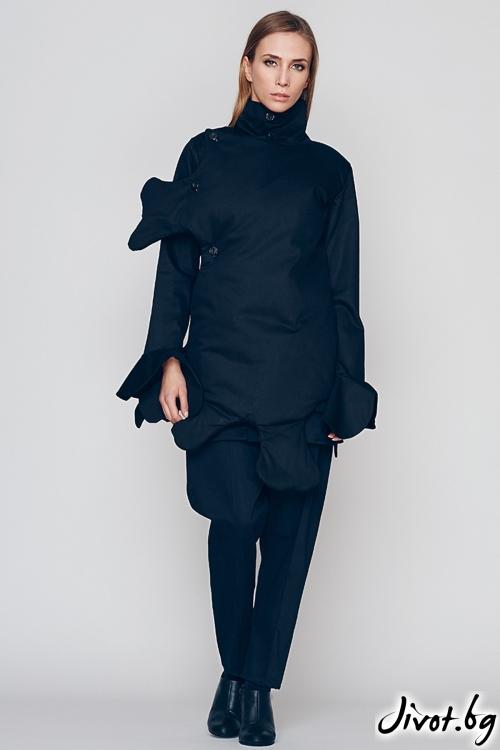 Черно деконструктивно сако / Maria Queen Maria