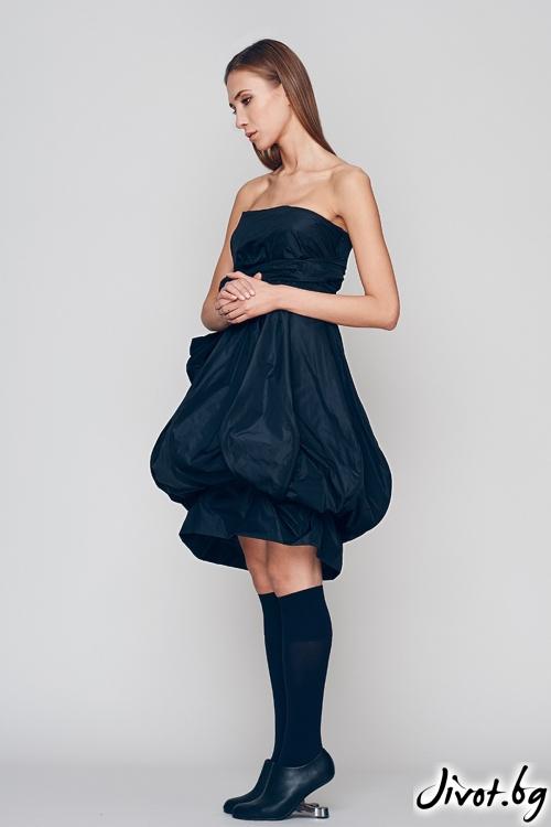 """Красива къса черна рокля """"Тиква"""" / Maria Queen Maria"""