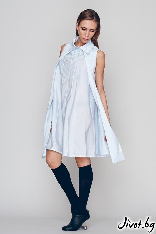 Нежно синя дамска лятна рокля - Maria Queen Maria