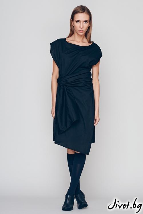 "Черна лека дамска рокля-туника ""AN"" / Maria Queen Maria"