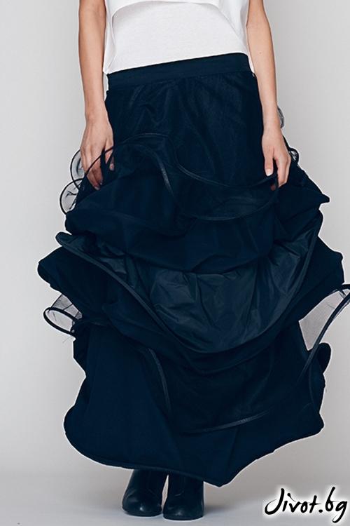Дълга черна пола/рокля- Maria Queen Maria