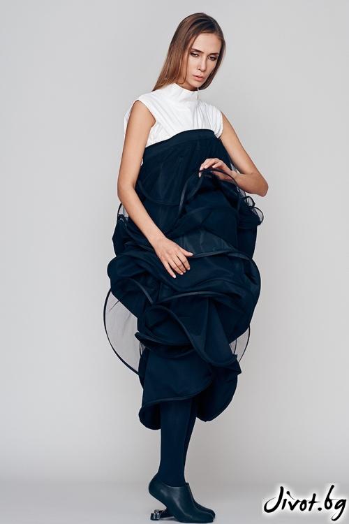 Черна рокля / пола - Maria Queen Maria