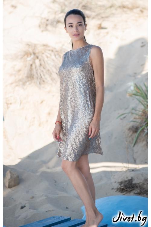 Дамска рокля с паети / JUST T.K.
