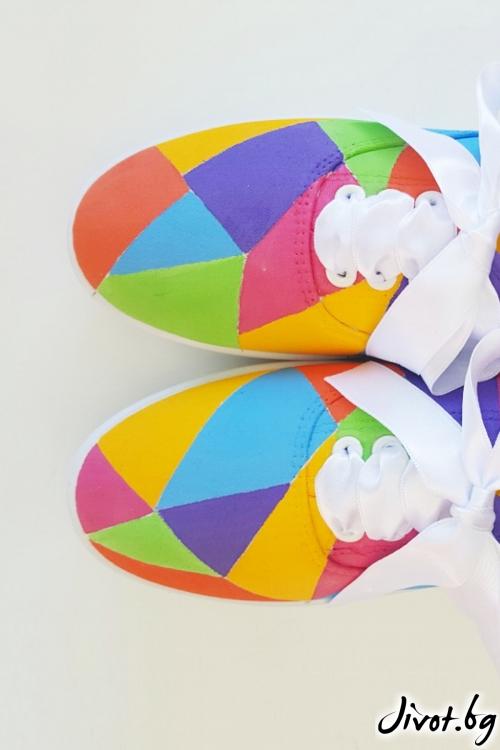Ръчно рисувани спортни обувки / FETSKI