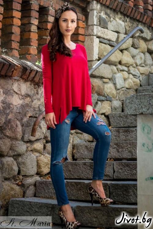 Червена дамска туника / Melina Fashion
