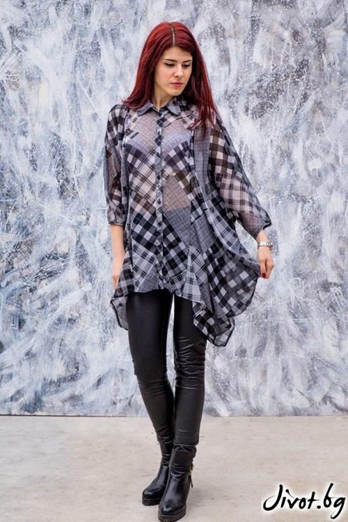 Ефирна дамска риза / Melina Fashion