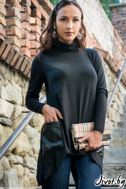 Черна дамска туника / Melina Fashion