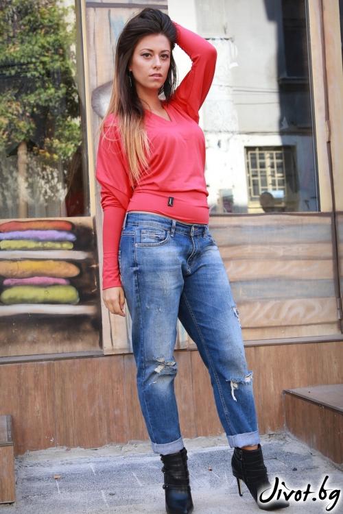 Червена дамска блуза / ALENIA