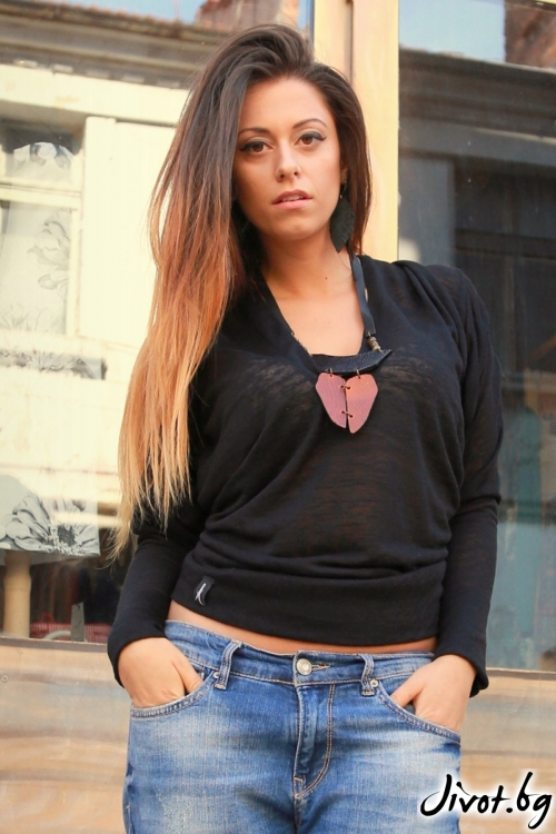 Черна дамска блуза / ALENIA