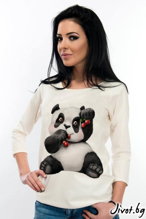 Дамска блуза с панда