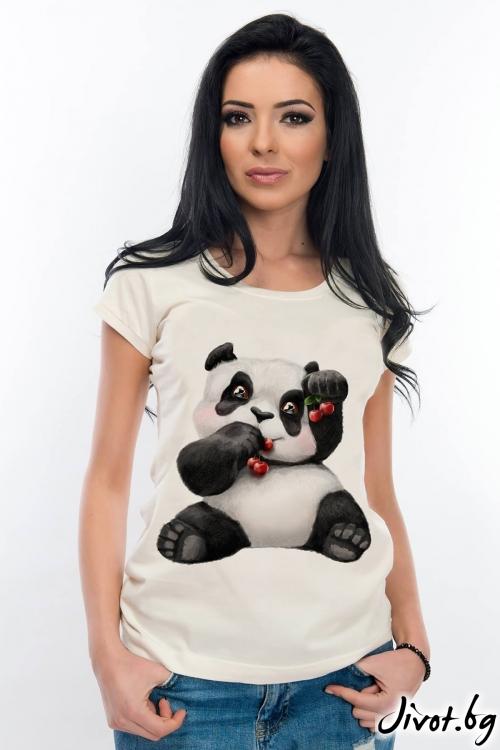 Дамска тениска с панда