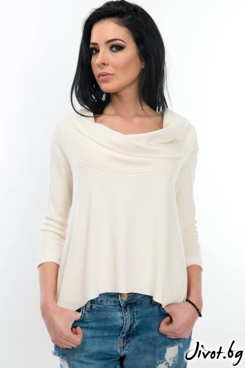 Дамска блуза с дълъг ръкав от 100% органичен памук / WhiteBerry
