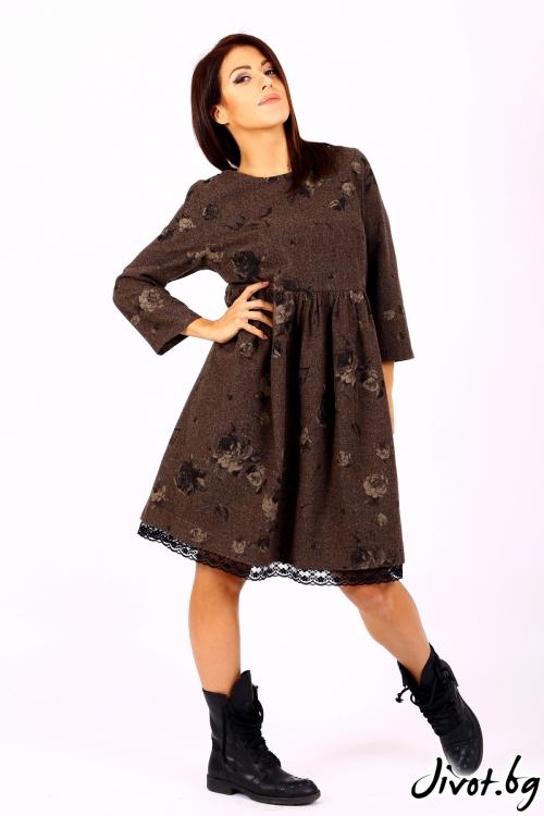 Вълнена дамска рокля / Cherie Marie