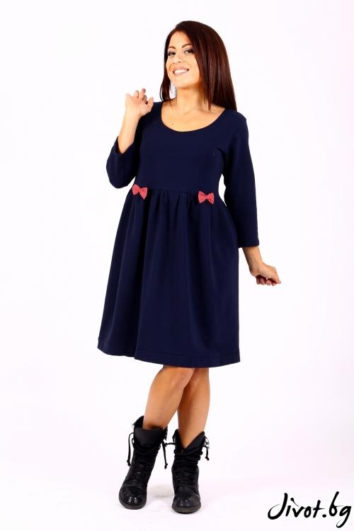 Синя рокля с червени панделки / Cherie Marie