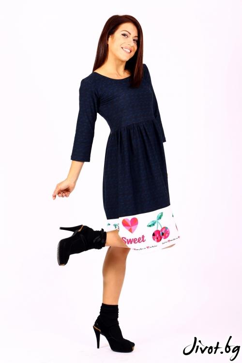 Синя рокля с черешки / Cherie Marie