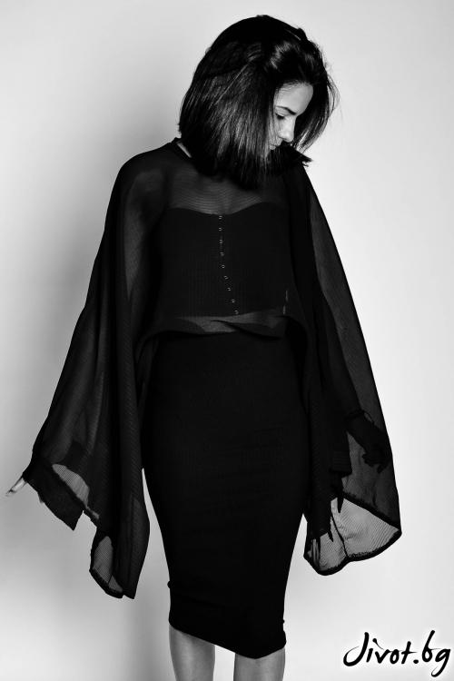 Черна дамска риза от шифон / EXPERIMENT