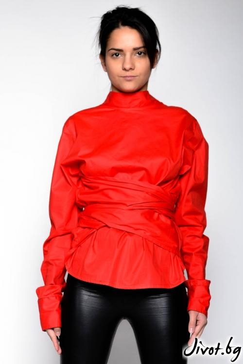 Червена риза с дълги ръкави / EXPERIMENT