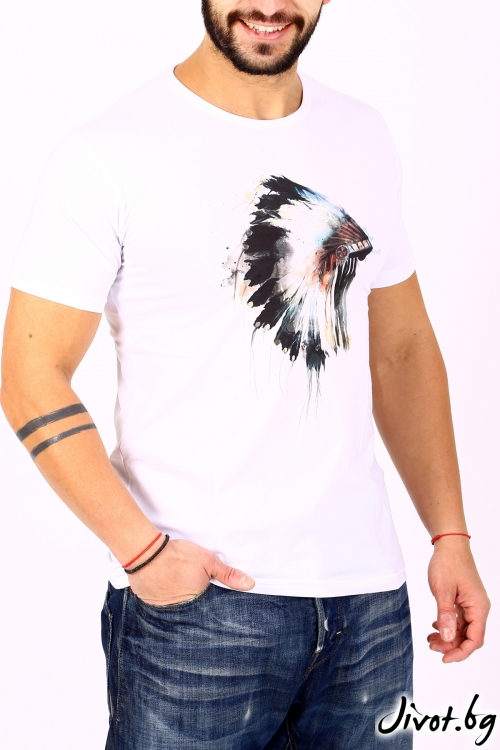 Мъжка тениска INDIAN / BARCODE