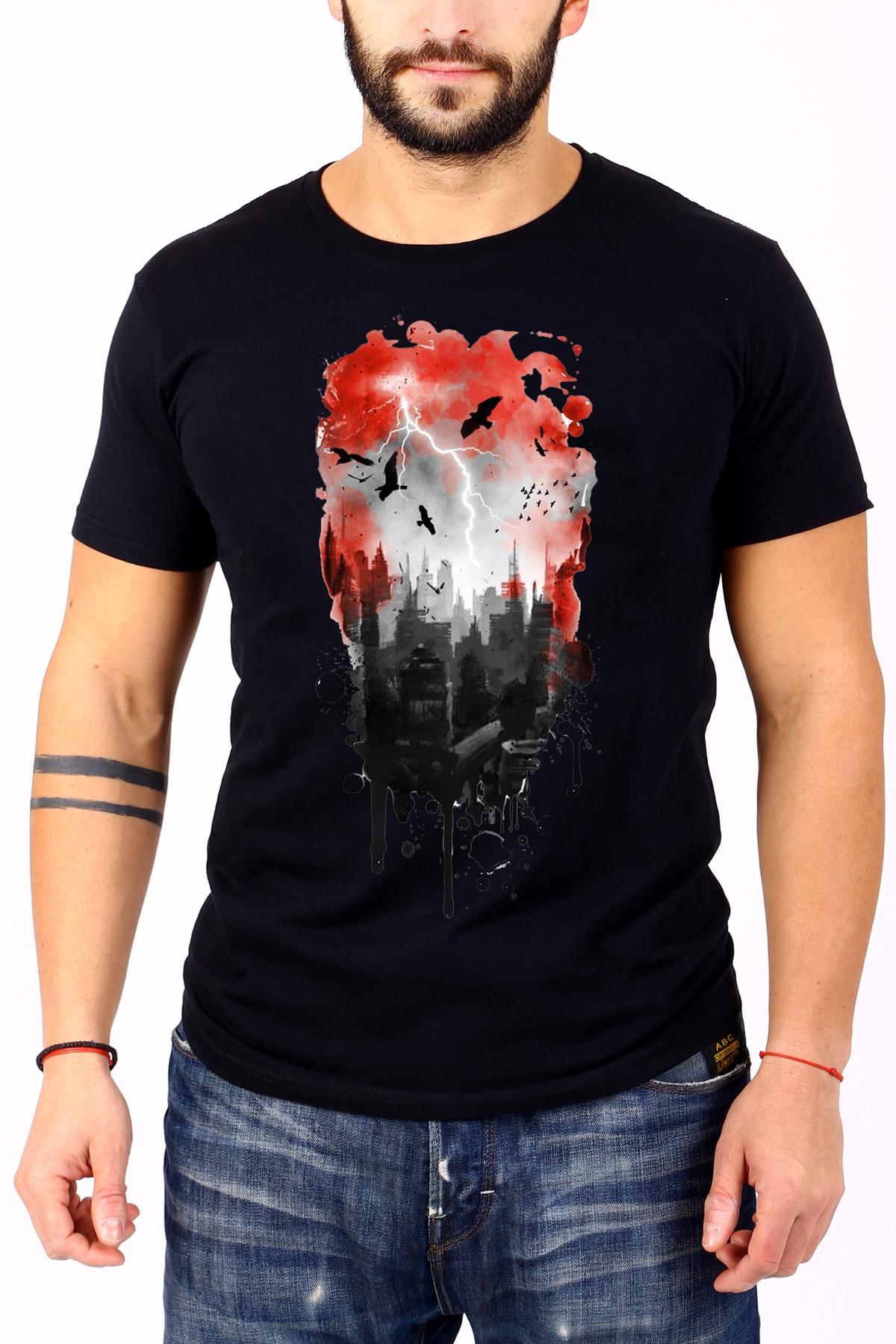 Черна мъжка тениска / BARCODE