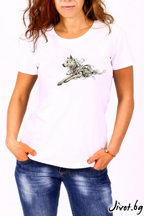 Блуза с къс ръкав в бяло ATILA / BARCODE