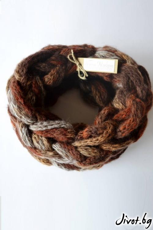 Ръчно плетен шал яка/ Joanna Palankova