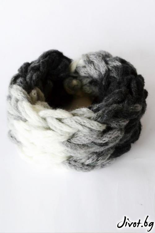 Шал яка, ръчно плетен / Joanna Palankova