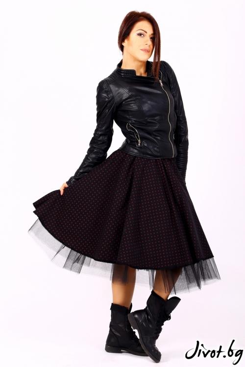 Ръчно изработена пола на точици / Cherie Marie