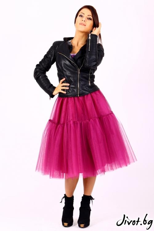 Многопластова ръчно изработена пола от тюл / Cherie Marie