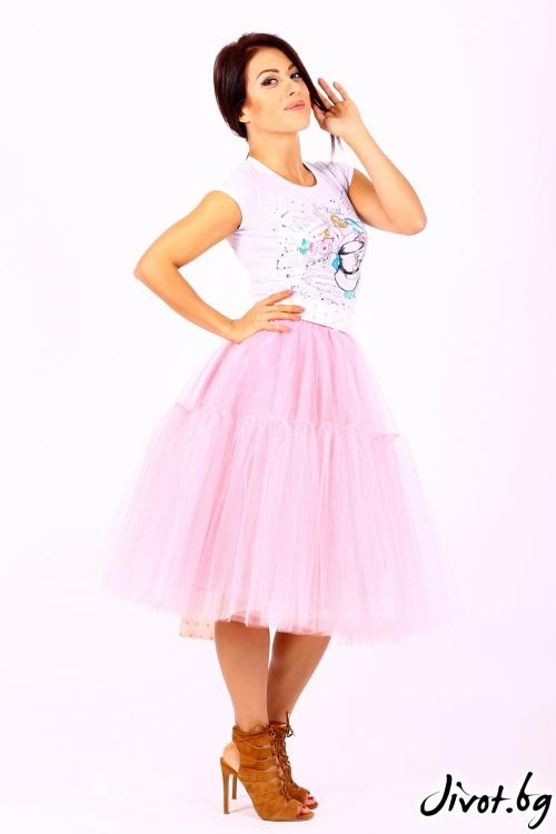 Нежно розова пола от тюл / Cherie Marie