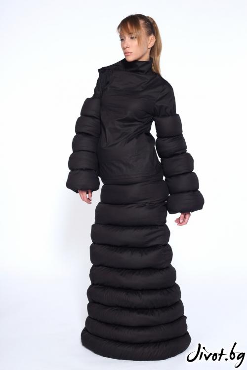 Черна дълга пола с вата / Maria Queen Maria