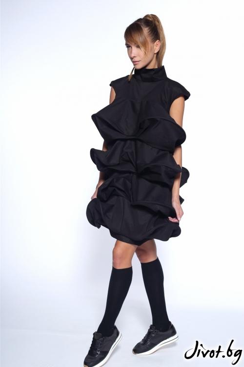 """Къса черна рокля """"Елхичка"""" / Maria Queen Maria"""