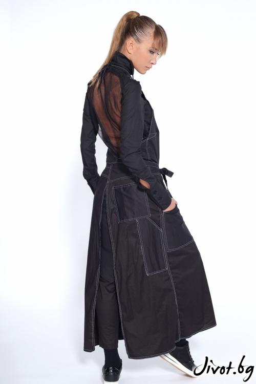 Дамска черна деконструктивна риза / Maria Queen Maria
