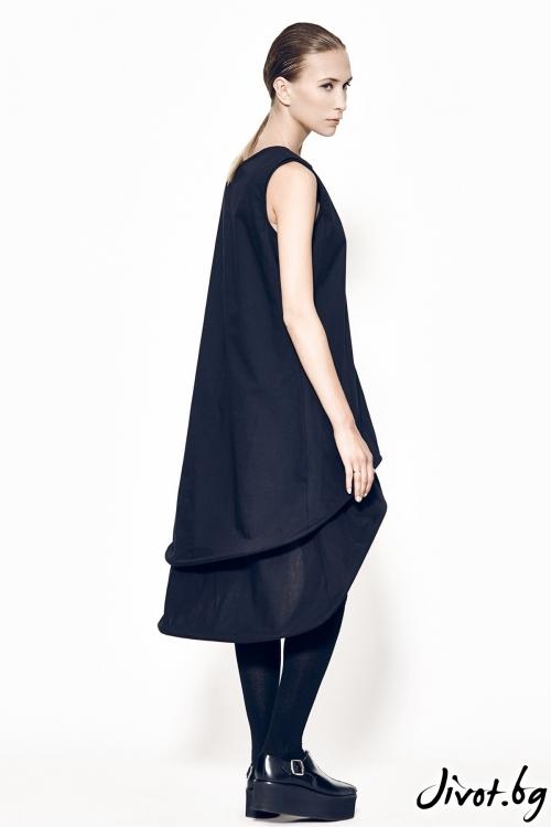 Черна рокля с обръчи MARIA QUEEN MARIA