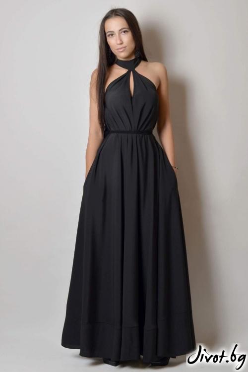 Дълга черна рокля / VESTITI