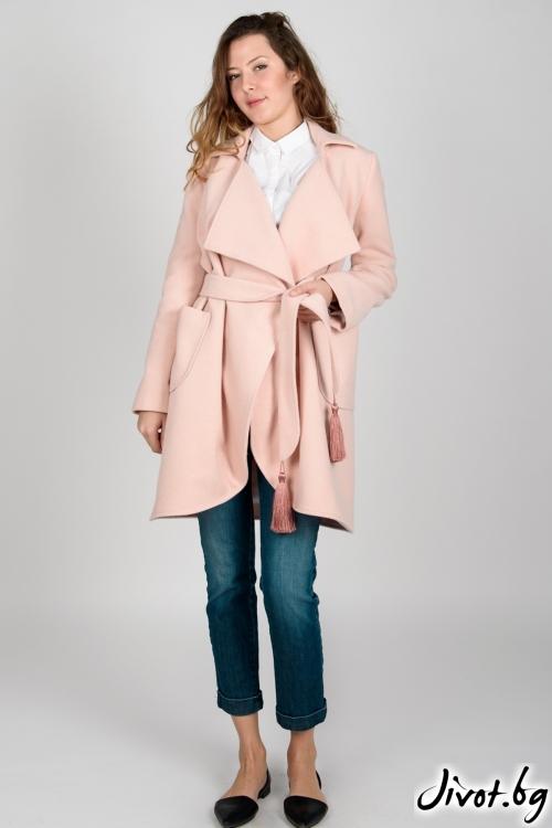 Дамско палто в нежно розово / VIVASTELLA
