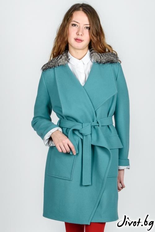 Палто с колан / VIVASTELLA