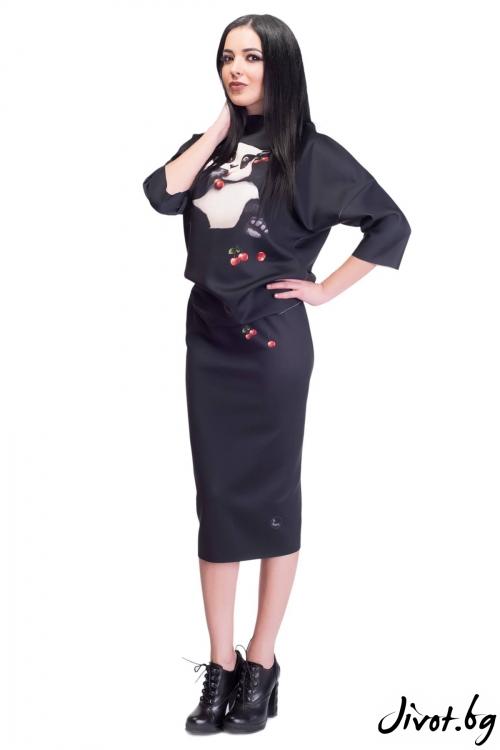 Дамски комплект блуза и пола