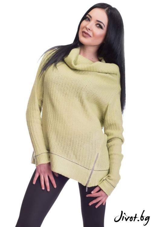 Зелена дамска блуза