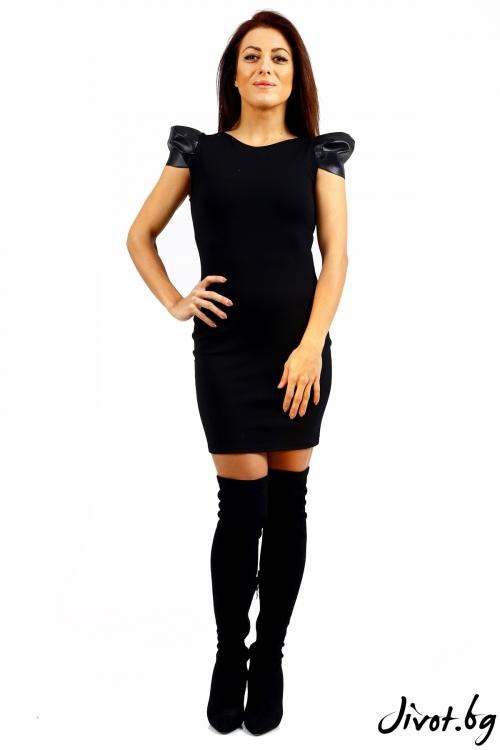 Къса черна дамска рокля