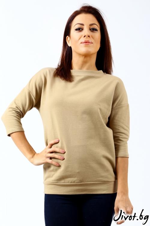 Мека ватирана блуза с дантела / Décollage