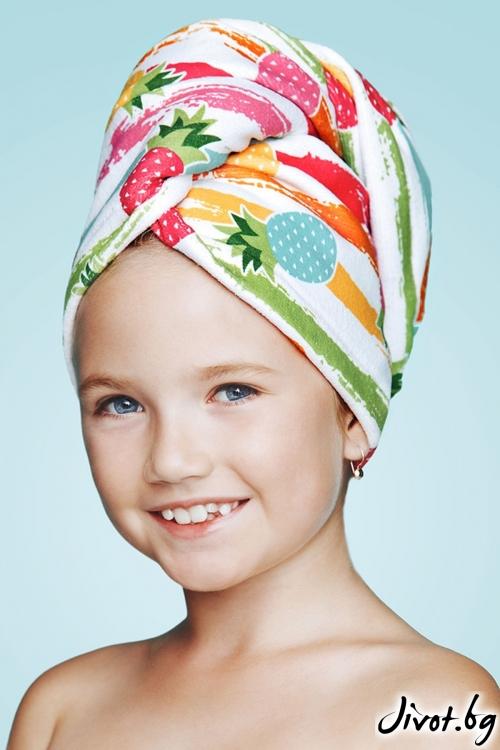 Хавлиена детска кърпа за коса DOLCE / AGLIQUE