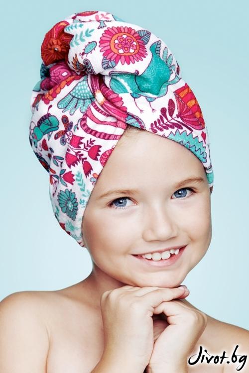 Хавлиена детска кърпа за коса WONDERLAND / AGLIQUE