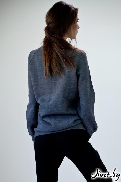 Дамска блуза с каре / M2V