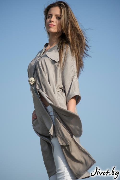 Очарователна дамска риза от коприна / M2V