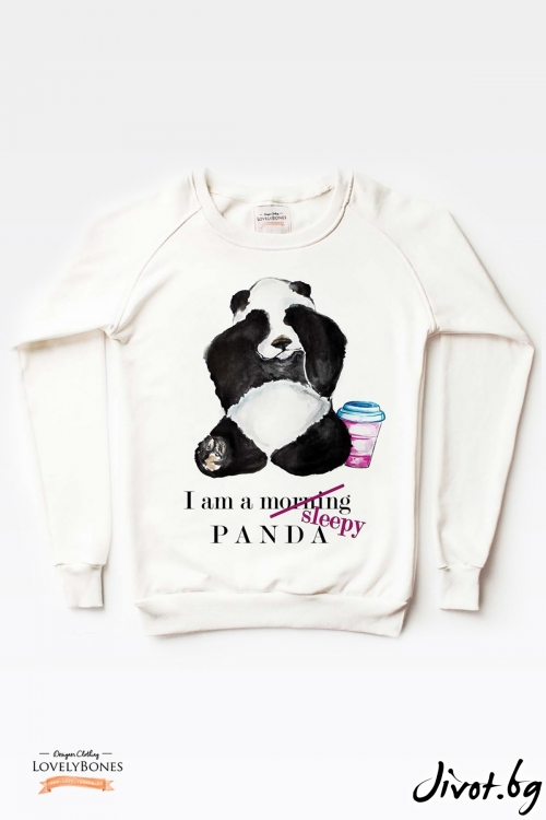 Дамски суичър A Sleepy Panda / LovelyBones Clothing