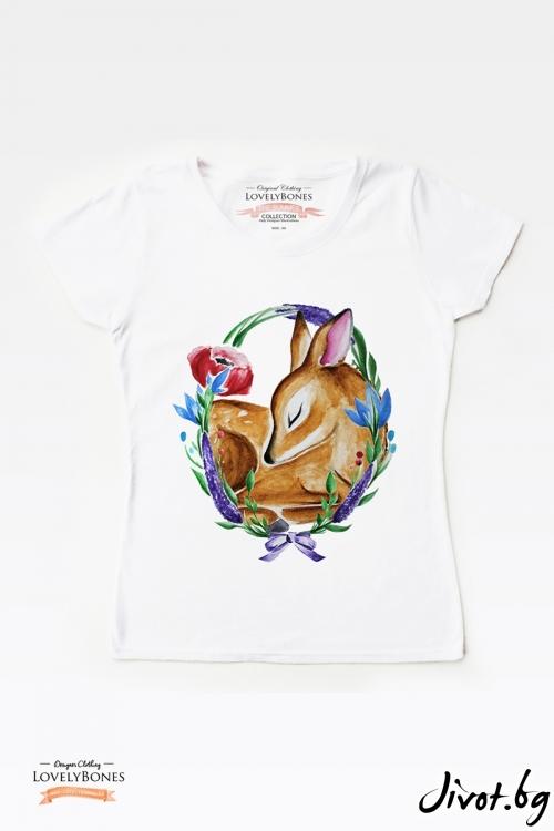 "Дамска тениска ""A wild thing"" / LovelyBones Clothing"