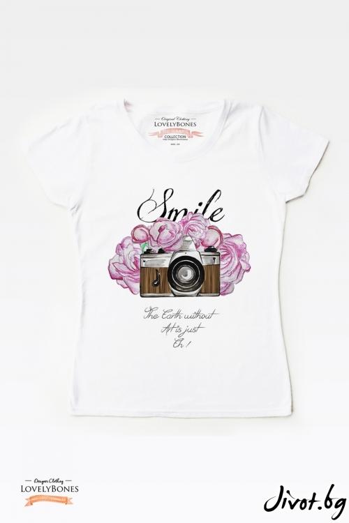 """Дамска тениска """"Art & Earth"""" / LovelyBones Clothing"""